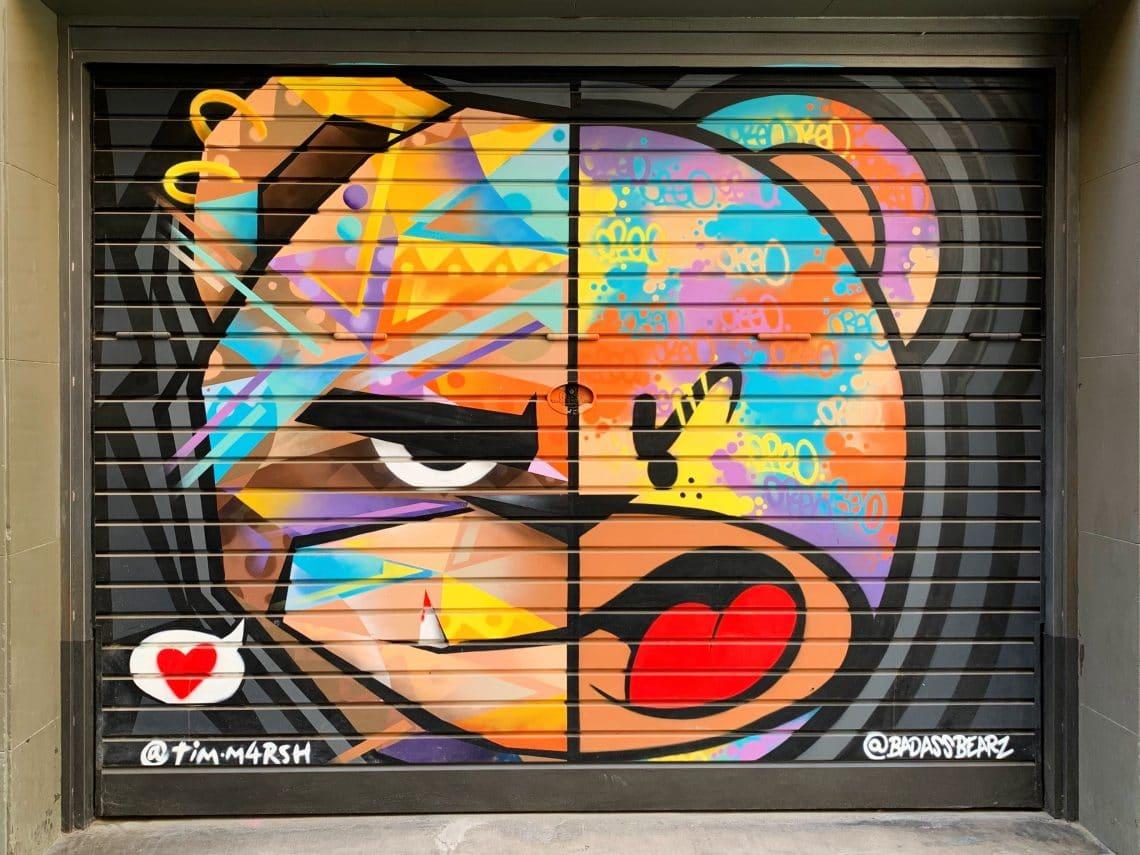 Badassbearz Zach Oreo Street Art Barcelona