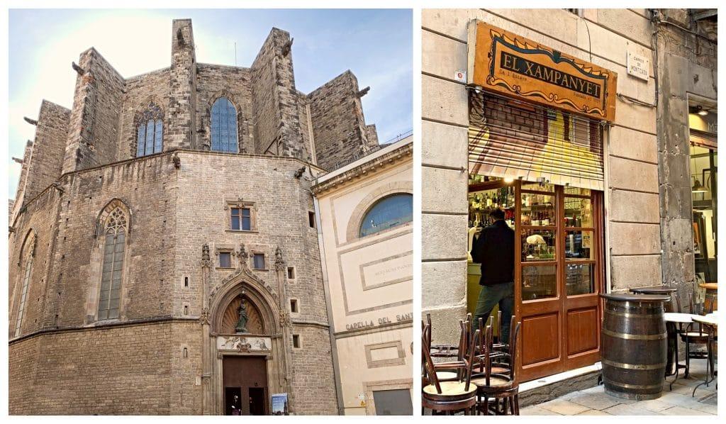 Iglesia y Bar en el Born de Barcelona